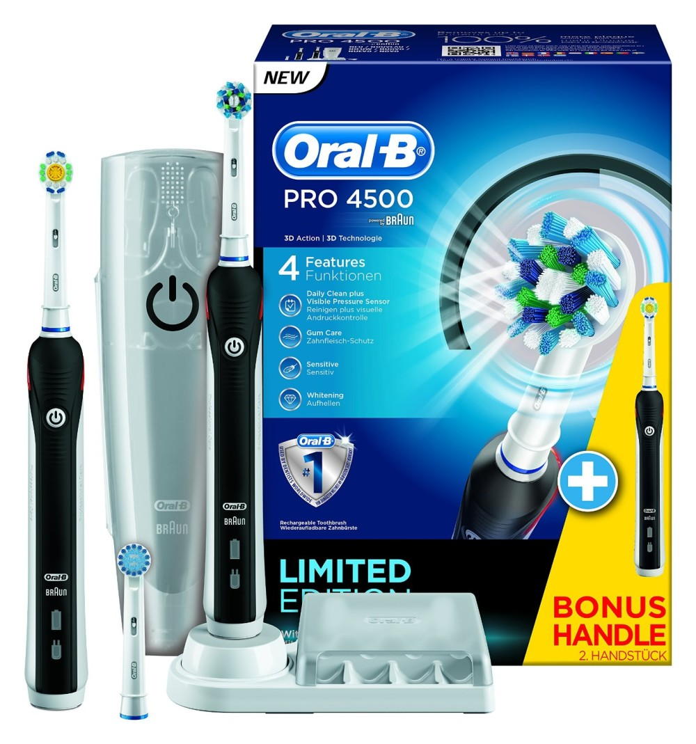 oral b brosse dents pro 4500 brosse dents lectrique. Black Bedroom Furniture Sets. Home Design Ideas